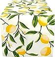 DII Cotton Table Runner for Dinner Parties, Spring Wedding & Everyday Use - 14x72, Lemon Bliss