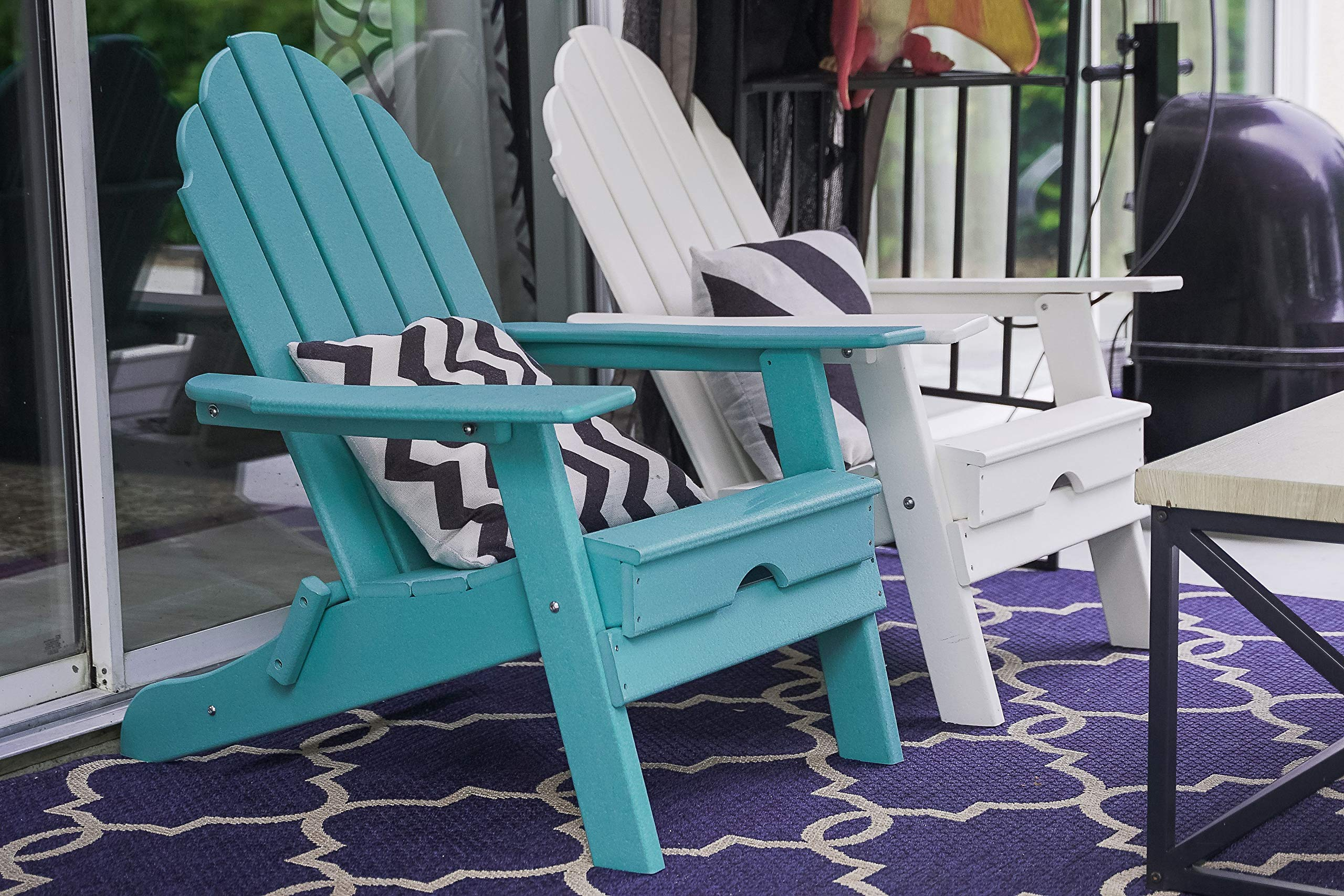 Foldable Polywood Weather Resistant Lawn and Garden Outdoor Adirondack Chair