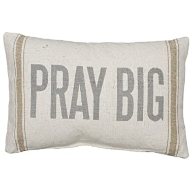 Primitives by Kathy Striped Pillow, 15  x 10 , Pray Big