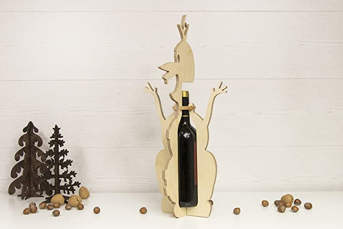Amazon.com: olaf wine holder wood christmas decor snowman