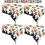 """4 Pack Superhero Plastic Table Cover 54"""" x 108"""" 