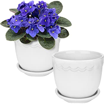 Amazon Com Mygift 4 Inch Ceramic Succulent Planter Flower