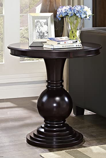 Dark Cherry Pedestal Side Table