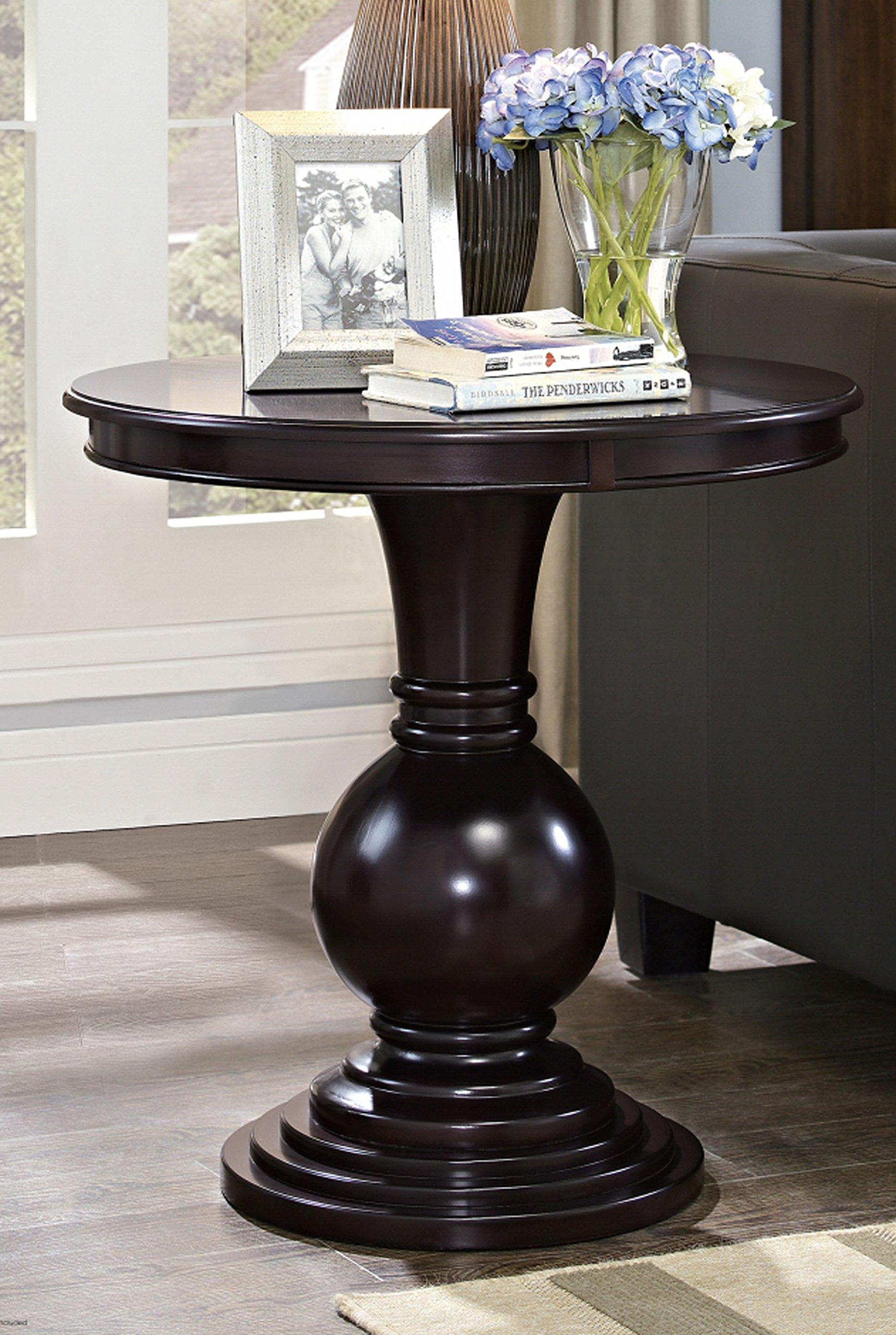 Dark Cherry Pedestal Side Table