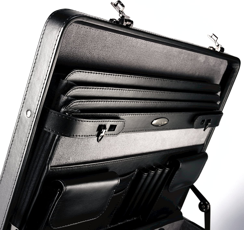 One Size Samsonite Bonded Leather Attache Black