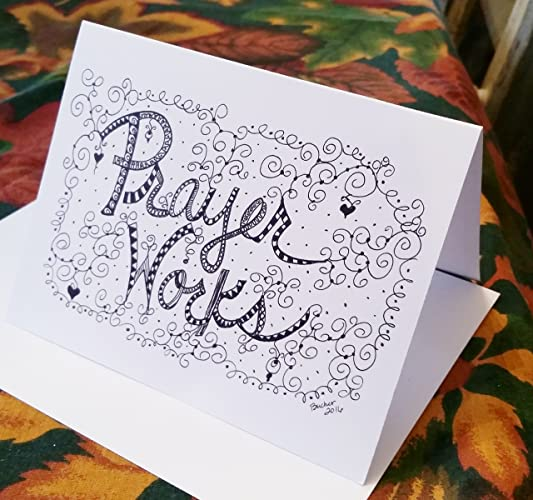 christian greeting cards hand designed 6 prayer works blank note card wenvelopes - Christian Greeting Cards
