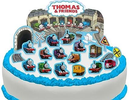PRE CUT Thomas The Tank Engine Friends Edible Cake Scene