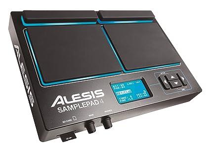 Alesis Sample Pad 4 Compact 4-Pad Percussion and Sample-Triggering  Instrument (Black)