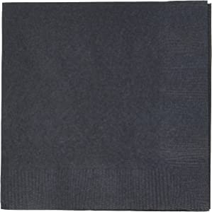 Jet Black 3-Ply Beverage Napkins | Pack of 20 |Party Supply