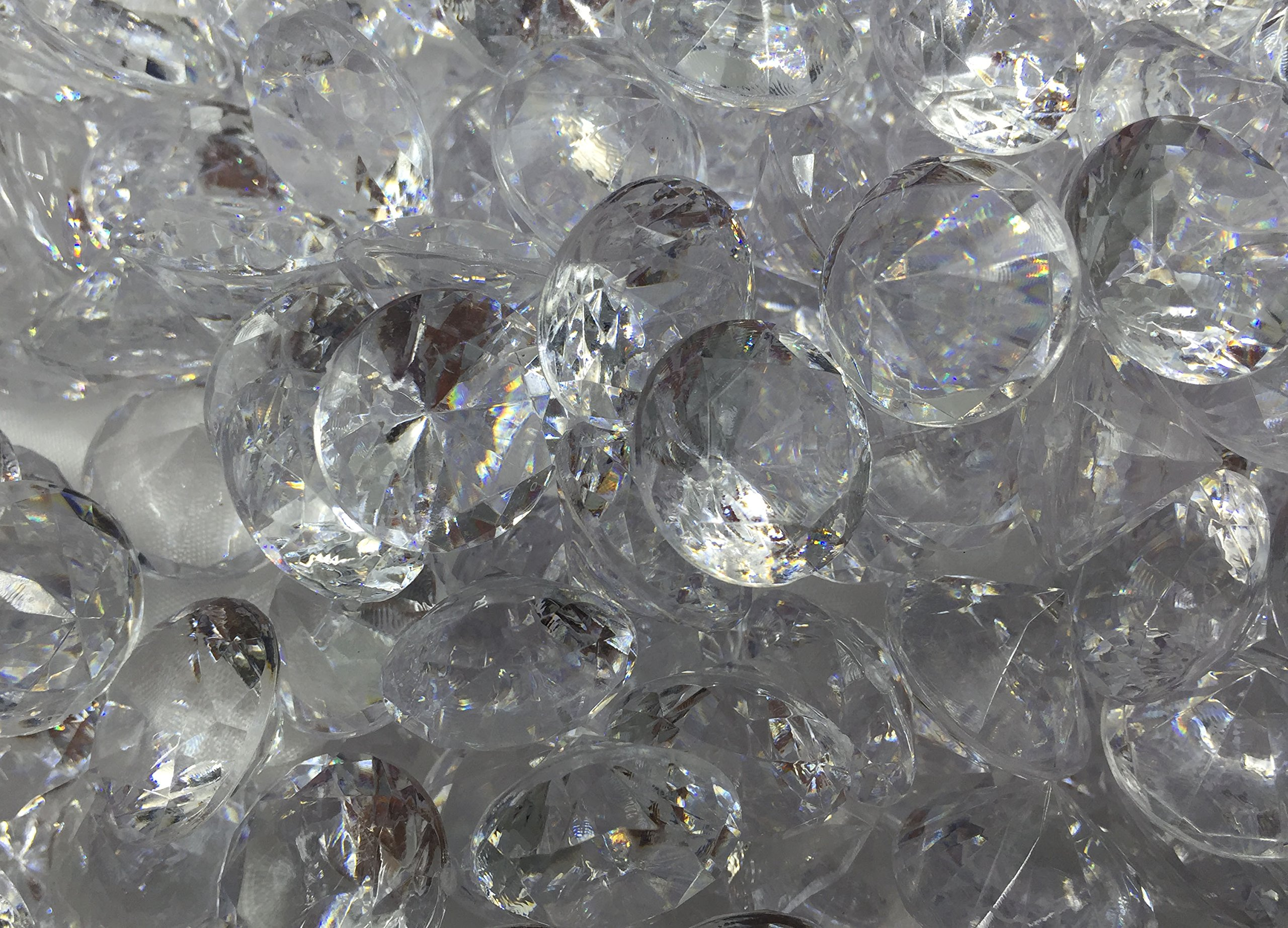 480+ Pieces 20mm Crystal Clear Acrylic Diamond Shape Jewels for Party Decoration ,Event ,Wedding , Vase Fillers, Arts & Crafts by SunRise (Image #6)