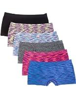 6 Pack Kalon Women's Nylon Spandex Boyshort Panties