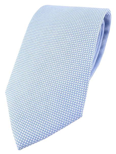 TigerTie - Corbata - para hombre azul claro, blanco Talla única ...