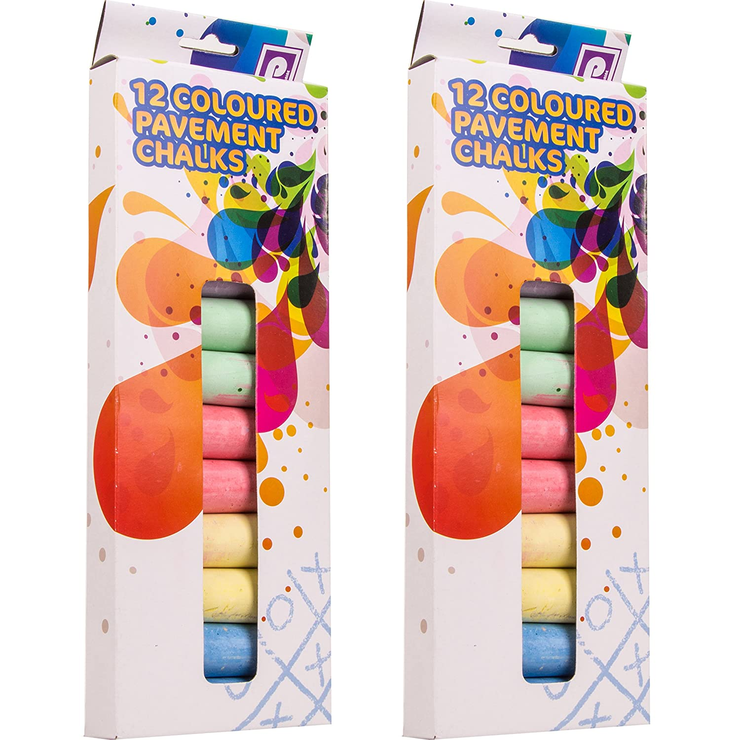 Pennine Coloured Pavement Chalk Pack of 12