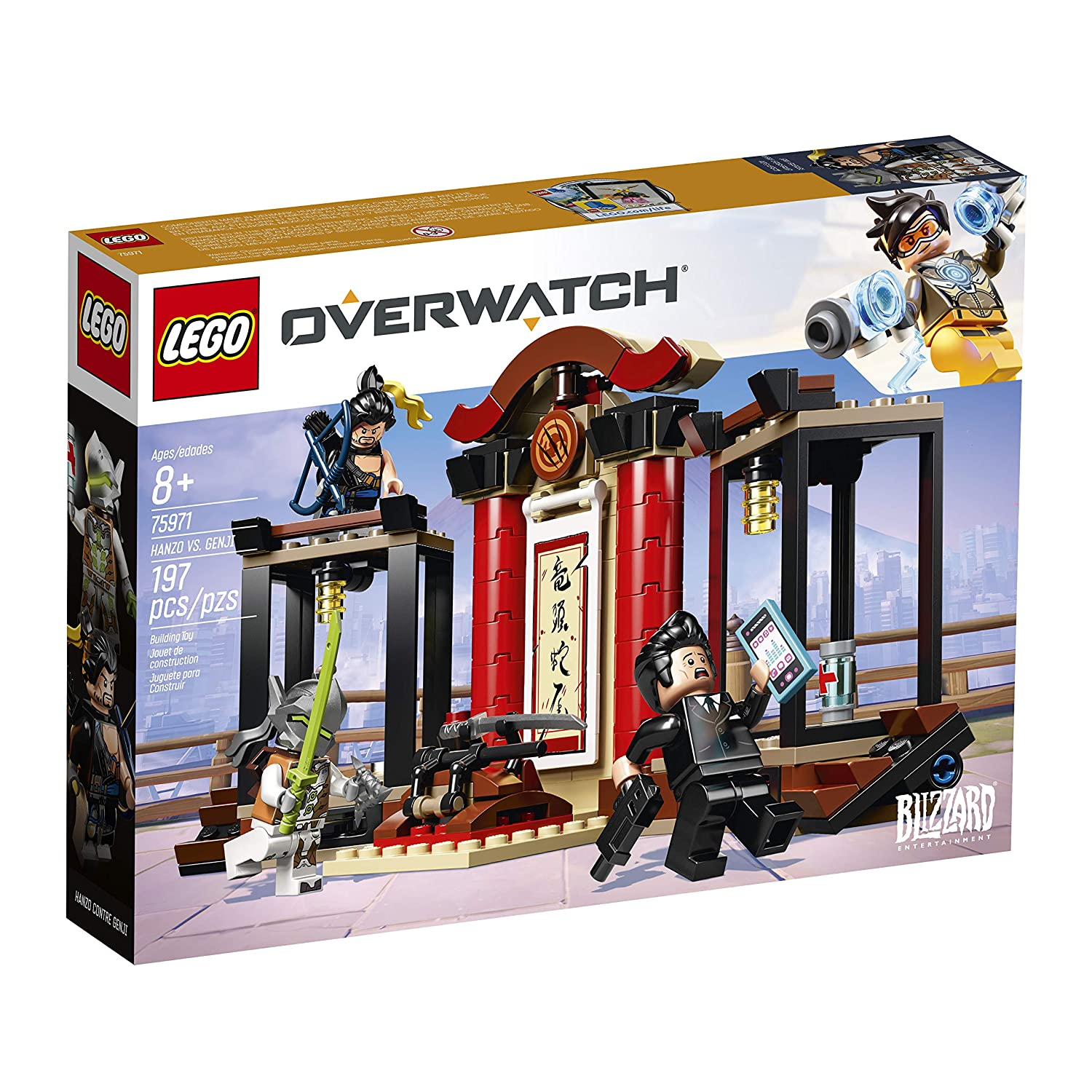 New 2019 LEGO Overwatch Hanzo vs 197 Piece Genji 75971 Building Kit