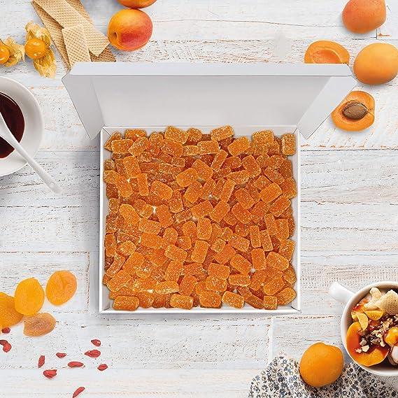 Bulk Gourmet Emporium - Caja a granel de paté de frutas de albaricoque, producto vegetariano, halal y sin envase de plástico, 1 kg