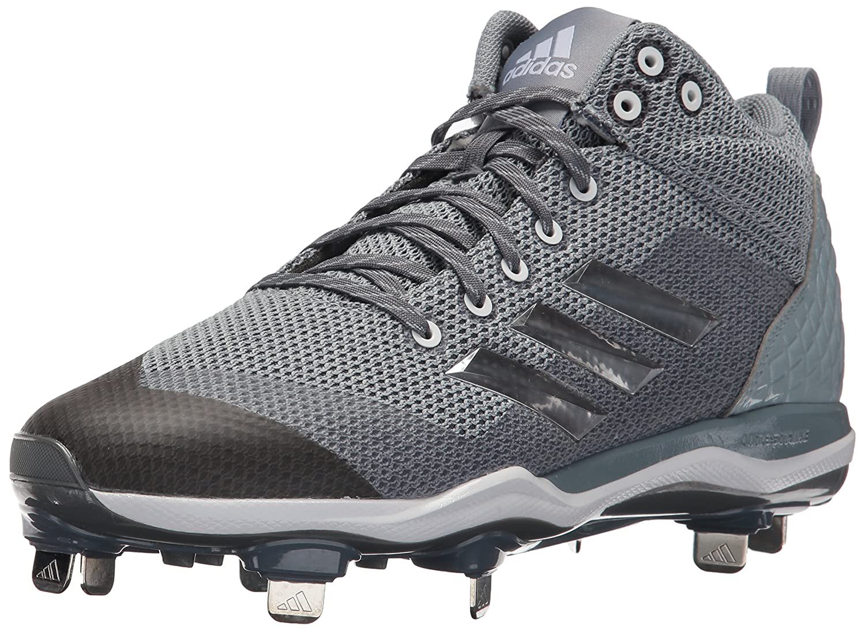 adidas Performance メンズ PowerAlley 5 Mid B01N1UKO9S 8.5 Medium US|Onix/Metallic Silver/Light Grey Onix/Metallic Silver/Light Grey 8.5 Medium US