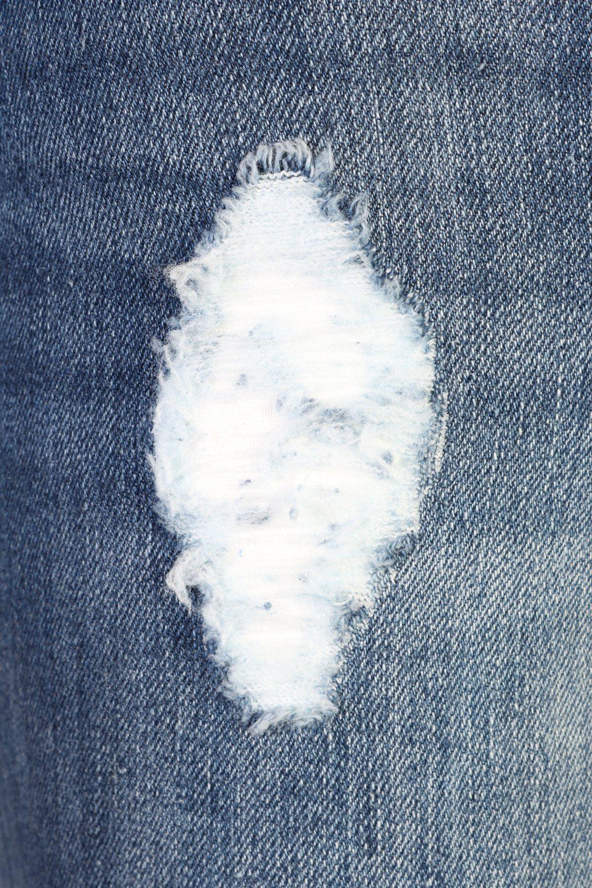 dollhouse Women's Distressed Stretch Frayed Hem Skinny Capri Jeans, Dark, Size 14' by dollhouse (Image #2)