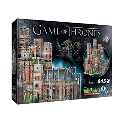 WREBBIT 3D - Game of Thrones The Red Keep 3D Jigsaw Puzzle - 845Piece: Toys & Games