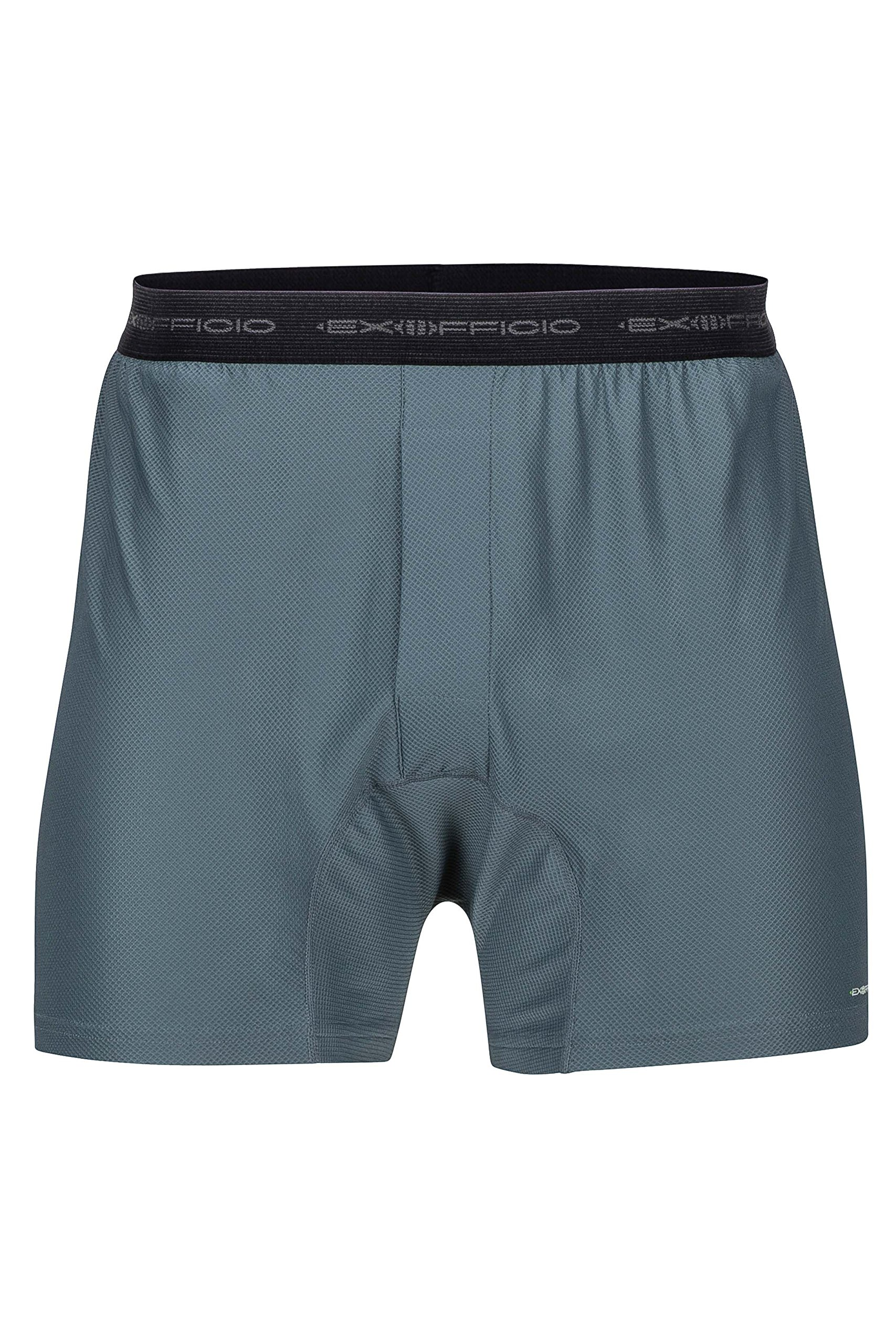 ExOfficio Men's Give-N-Go Boxer Shorts, 2-Pack, Charcoal, Large