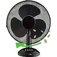 Tischventilator Ø30 cm 40 Watt | Ventilator | Rotation zuschaltbar | oszillierend | leiser Betrieb | Luftkühler | Windmaschine | geeignet für Büro, Schlafzimmer, Wohnzimmer |