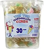 Marpro Yum Yum Marshmallow Candy Cones - 30 Ct. Tub (Fat Free)