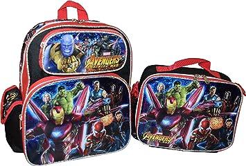 """Marvel Avenger 16/"""" Large School Backpack School Book Bag Lunch Bag 2 PC Set"""