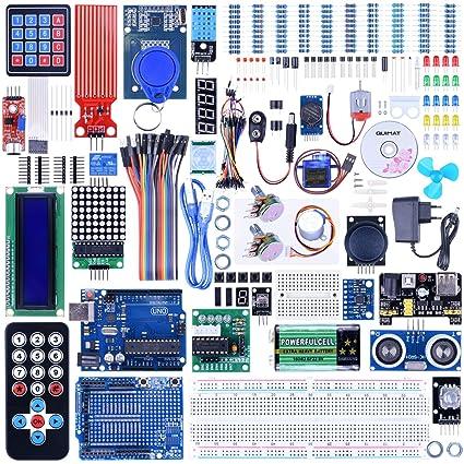 Amazon quimat uno r3 project complete ultimate starter kit for quimat uno r3 project complete ultimate starter kit for arduino with tutorialuno r3 development publicscrutiny Choice Image