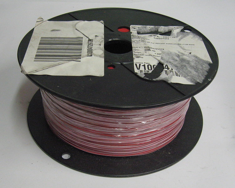 3000-ft) Copperfield 6TXL-2001-29 Wire 20 TX: 7 STR BC XLP RED/WHT ...