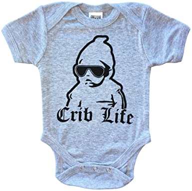 7f00e4ab2 CHUBS CRIB LIFE, Unisex Infant Bodysuit & Funny Baby Shower Gift (0-3