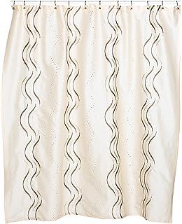 Croscill Dante Embroidered Shower Curtain Champagne
