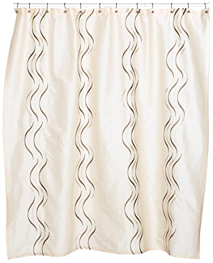 Croscill Dante Embroidered Shower Curtain Champagne