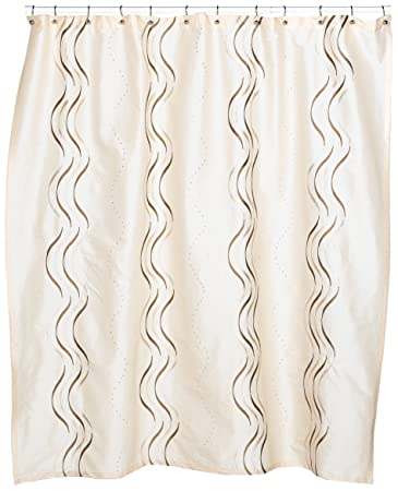 Croscill Dante Embroidered Shower Curtain, Champagne
