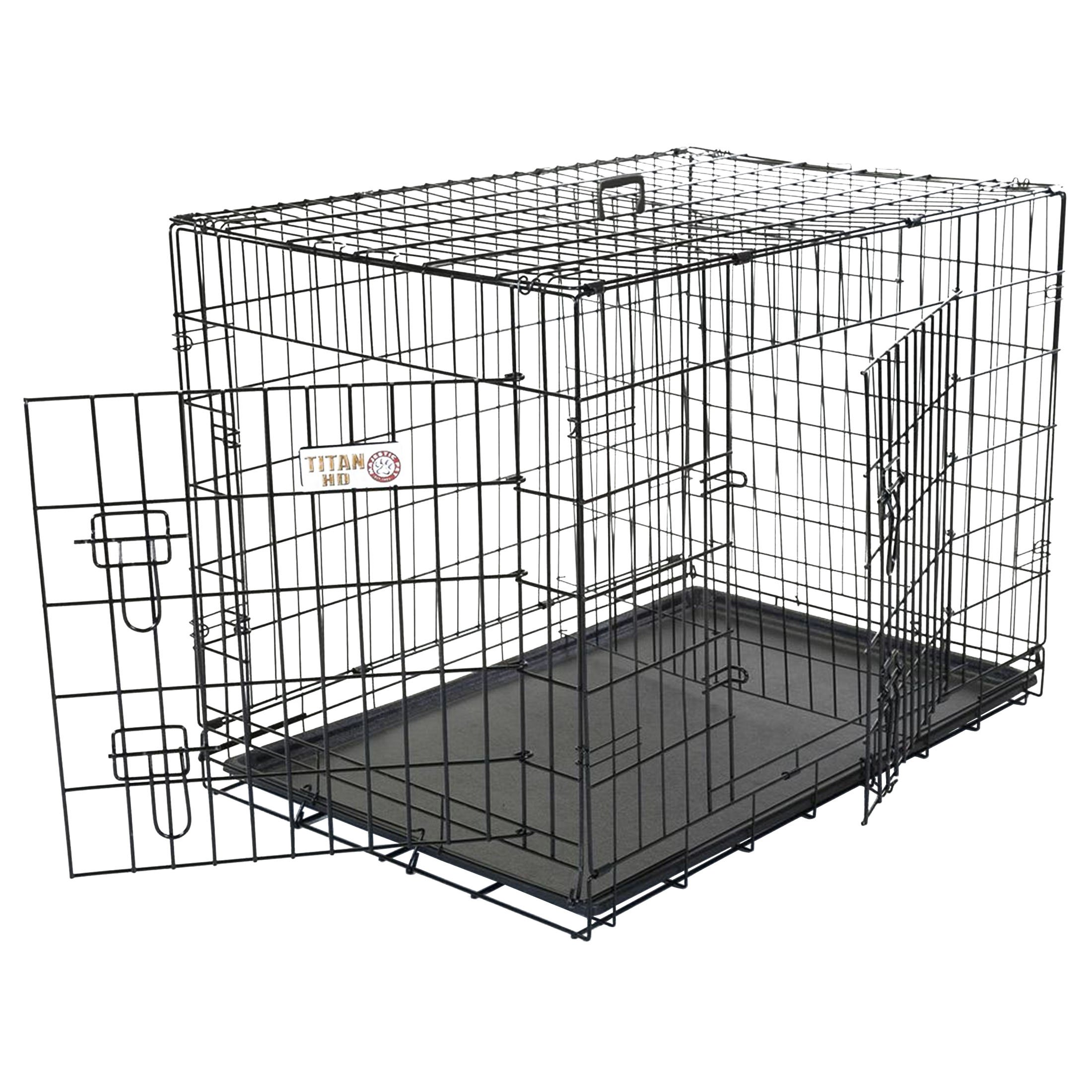 Majestic Pet 30 inch Double Door Folding Dog Crate By Products Medium