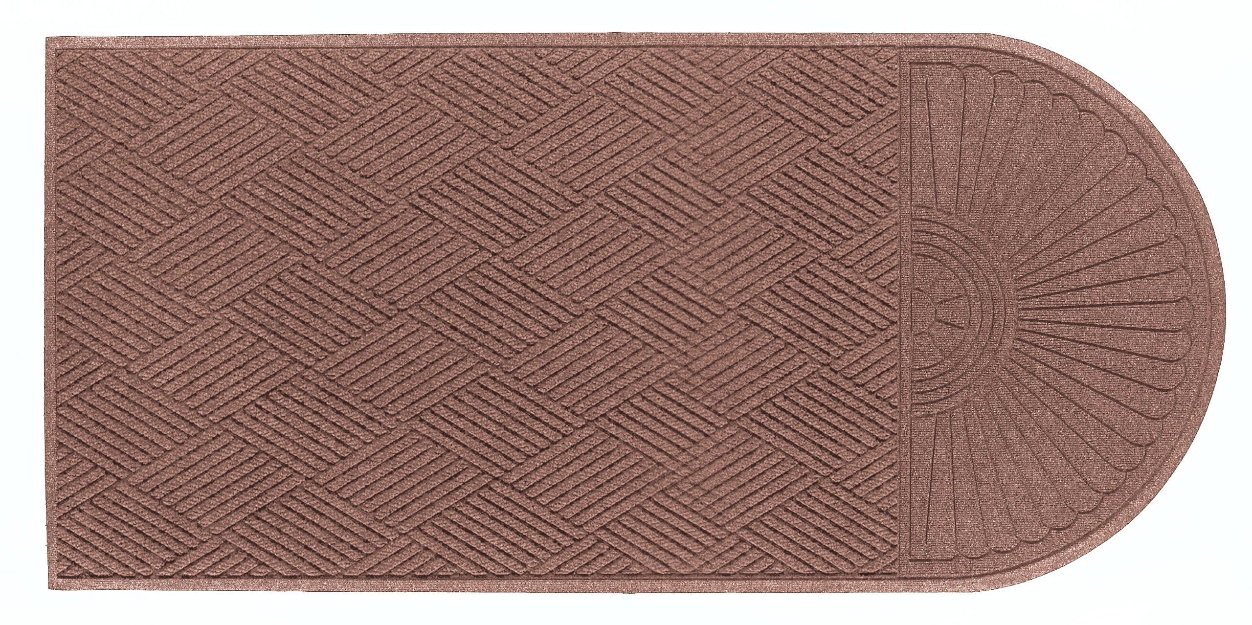 Andersen 273 Waterhog Grand Classic Polypropylene Fiber Single End Entrance Indoor/Outdoor Floor Mat, SBR Rubber Backing, 7' Length x 6' Width, 3/8'' Thick, Medium Brown