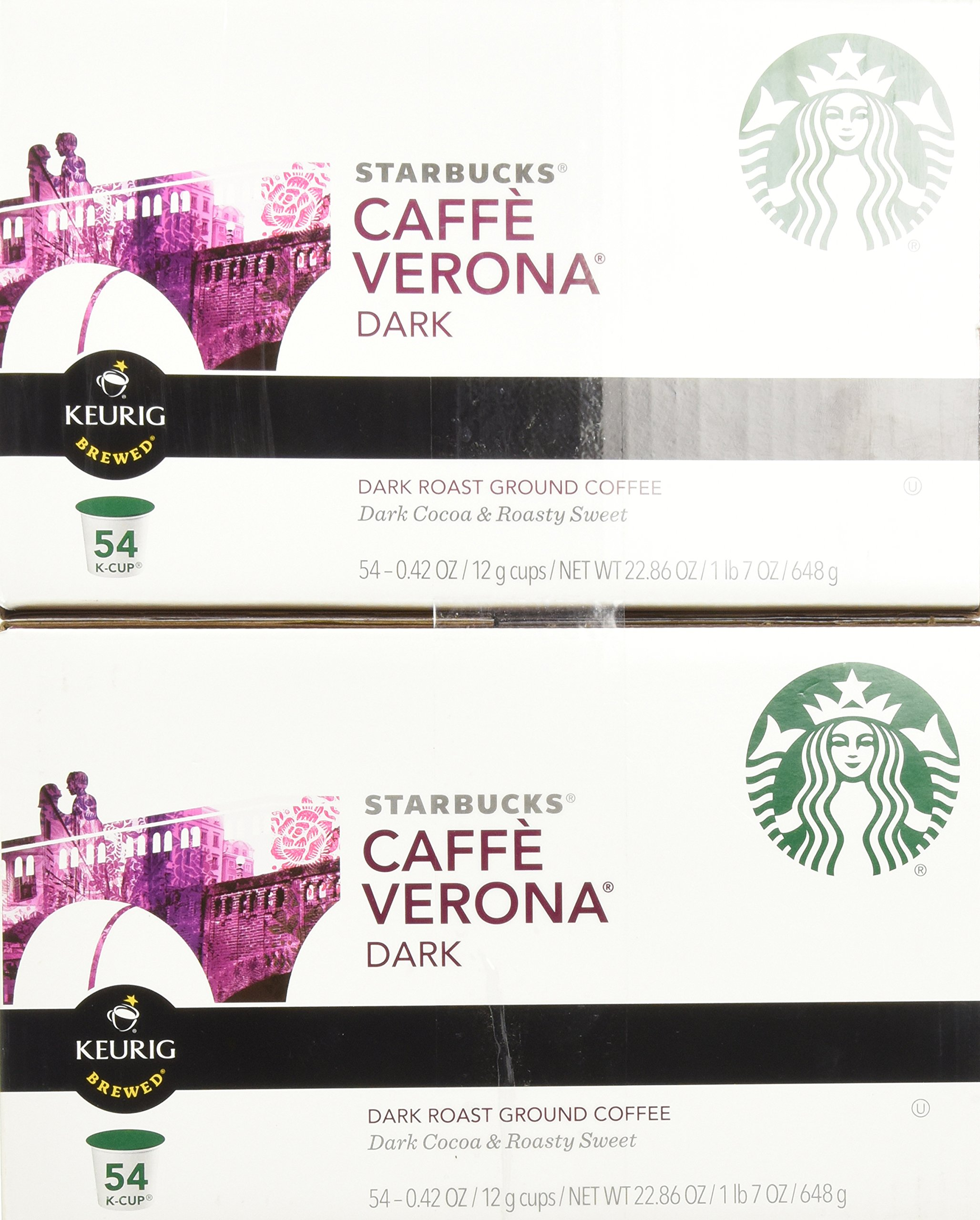 Starbucks Caffè Verona, Dark Roast, 108-Count K-Cups for Keurig Brewers by Starbucks (Image #3)