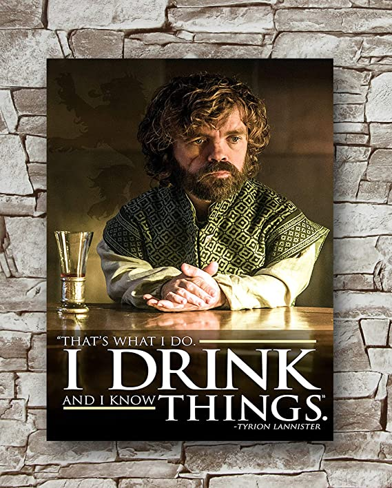 Game of Thrones Tyrion Lannister I drink and I know things 8 oz Flask