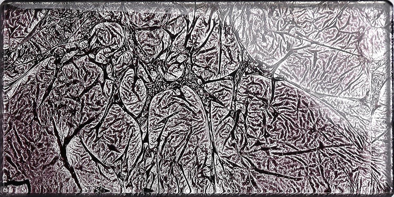 MT0117 Die St/ärke betr/ägt 6mm Glas Wand Fliese Grau mit Schimmer Folie Effekt Fliese ist 7.5cm x 15cm