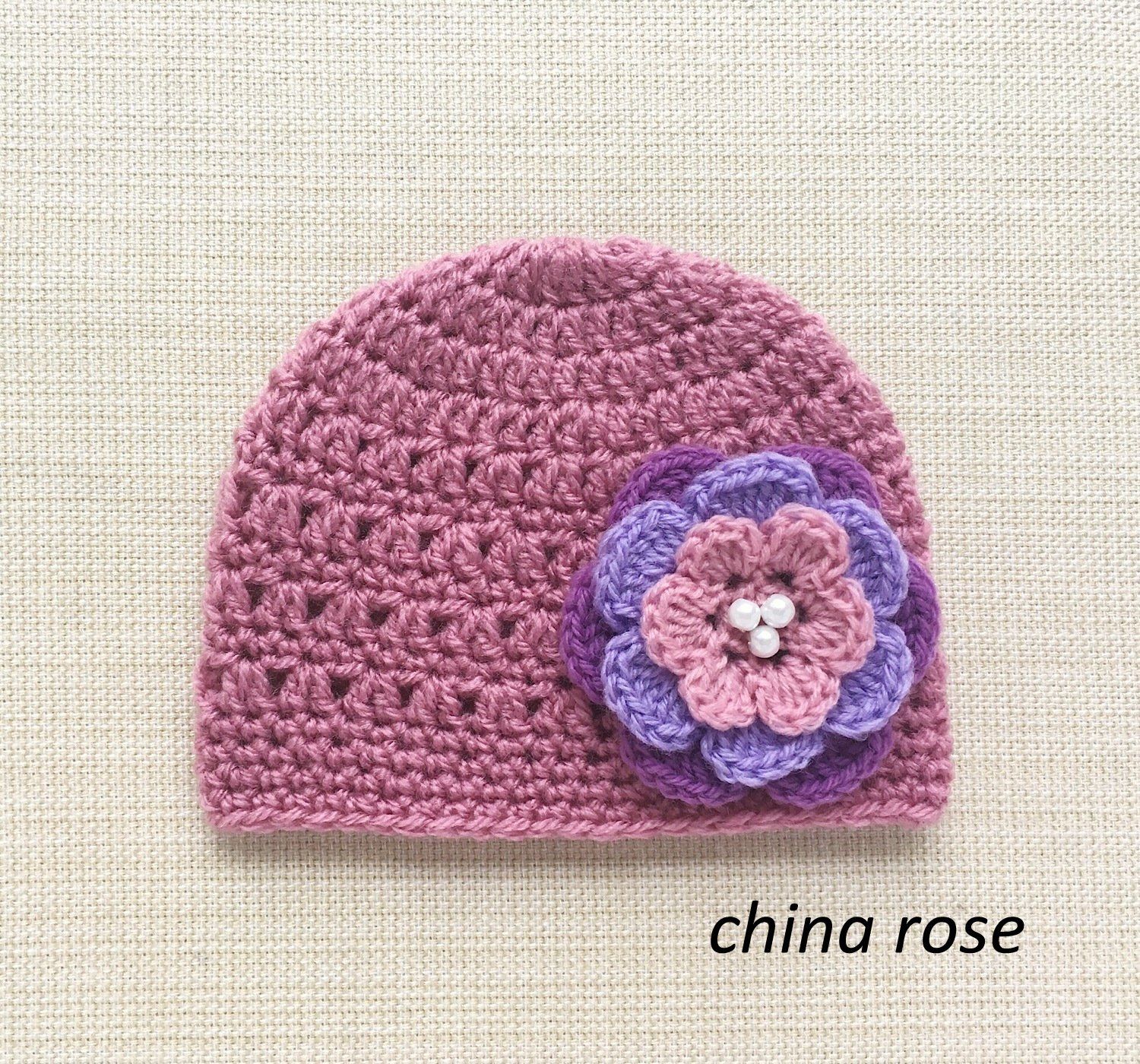 Amazon 0 6 Months Crochet Baby Hats With Flower Cute New Born