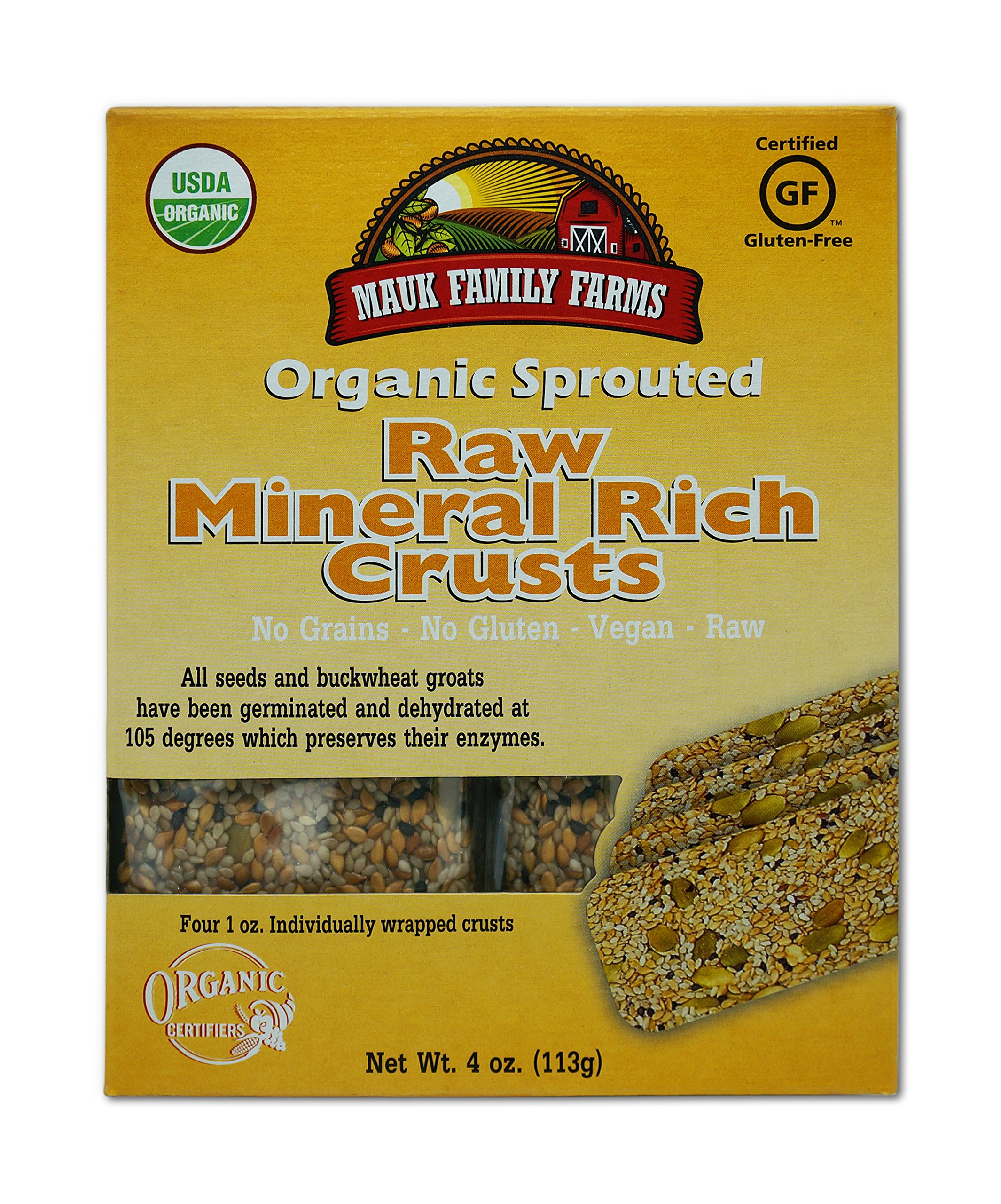 Mauk Family Farms Organic Raw Crusts, Mineral Rich, 4 Ounce