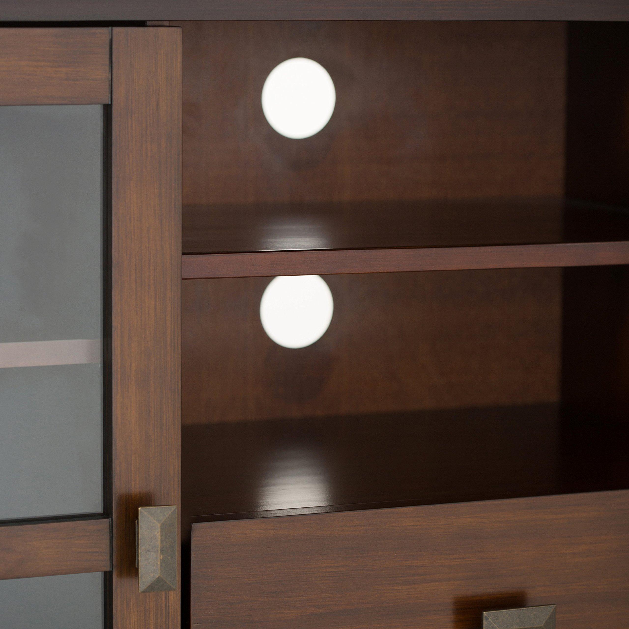Simpli Home Artisan TV Media Stand for TVs up to 60'', Medium Auburn Brown by Simpli Home (Image #4)