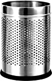 """King International Stainless Steel Perforated Open Dustbin 5 litre (7""""x11"""")"""