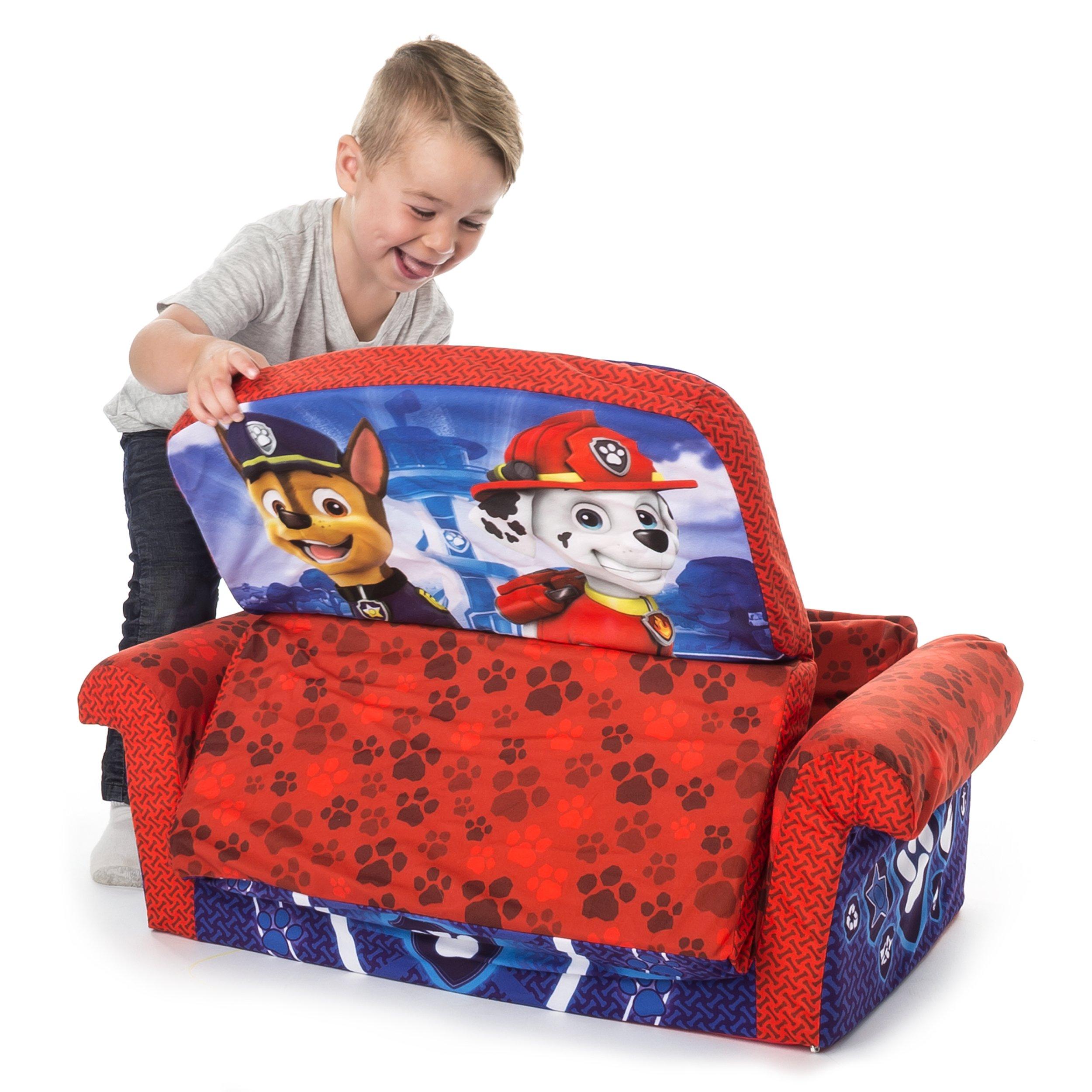 Marshmallow Furniture Children's 2 in 1 Flip Open Foam, Nickelodeon Paw Patrol Sofa Chair Furniture, Red by Marshmallow Furniture (Image #3)