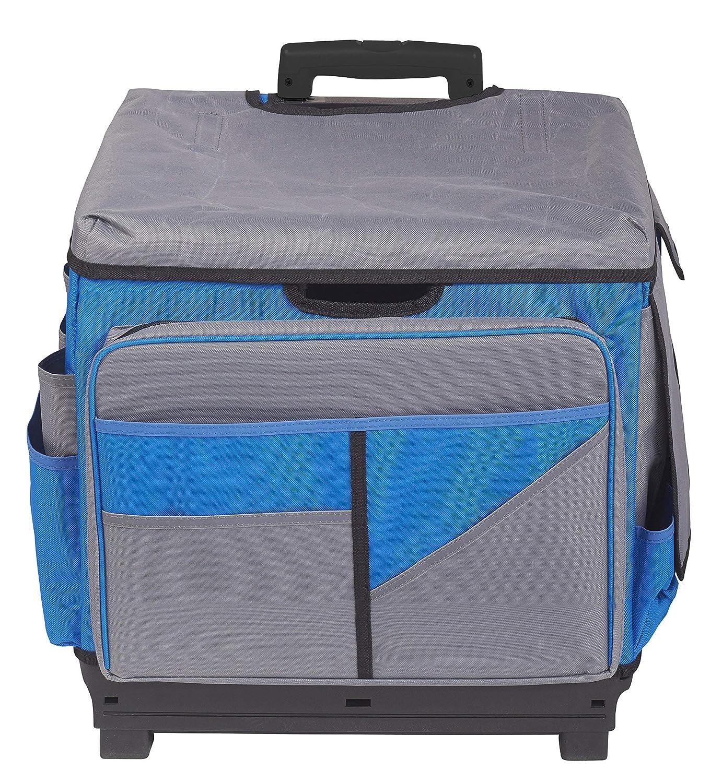 ECR4Kids MemoryStor Universal Rolling Cart and Organizer Bag Set, Blue