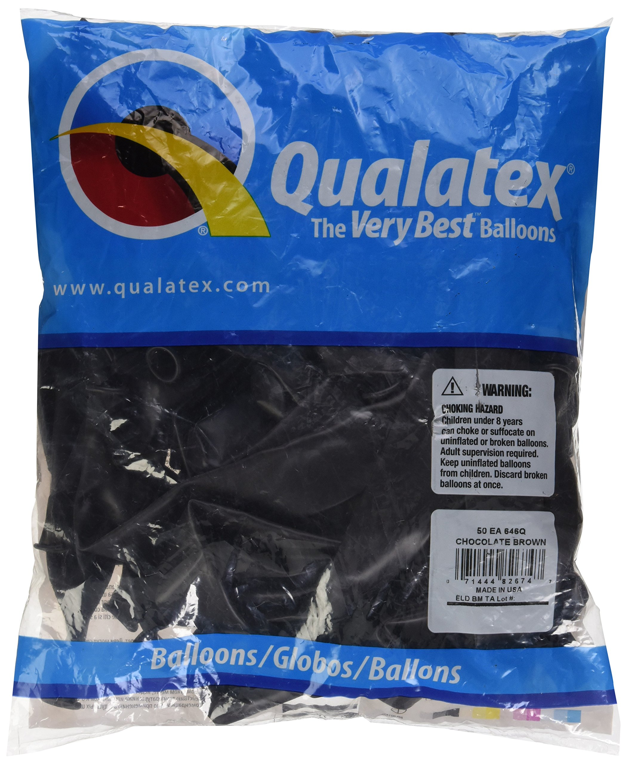 Qualatex 646Q Large Twisting Balloons, Chocolate Brown - Pack of 20