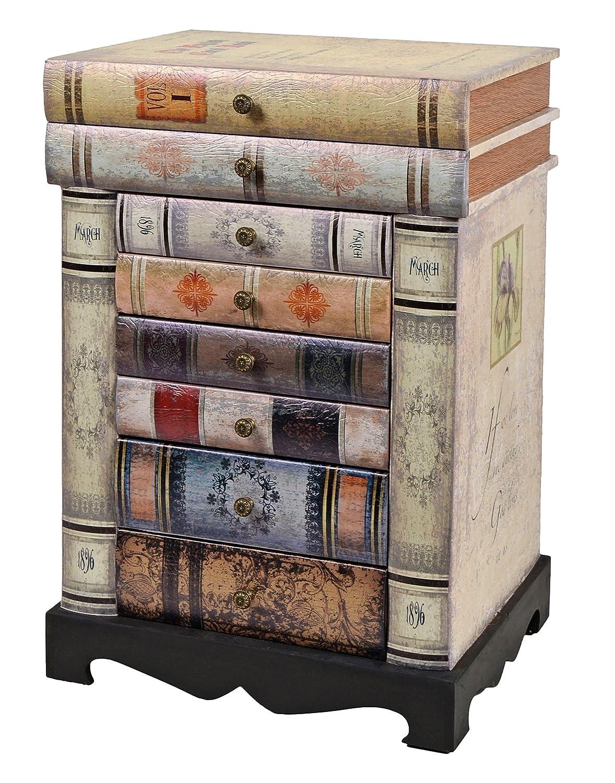 Ts Ideen Design Kommode Bücherregal Schrank Im Vintage Antik Buch Look  Nachttisch Mit Schubladen: Amazon.de: Küche U0026 Haushalt