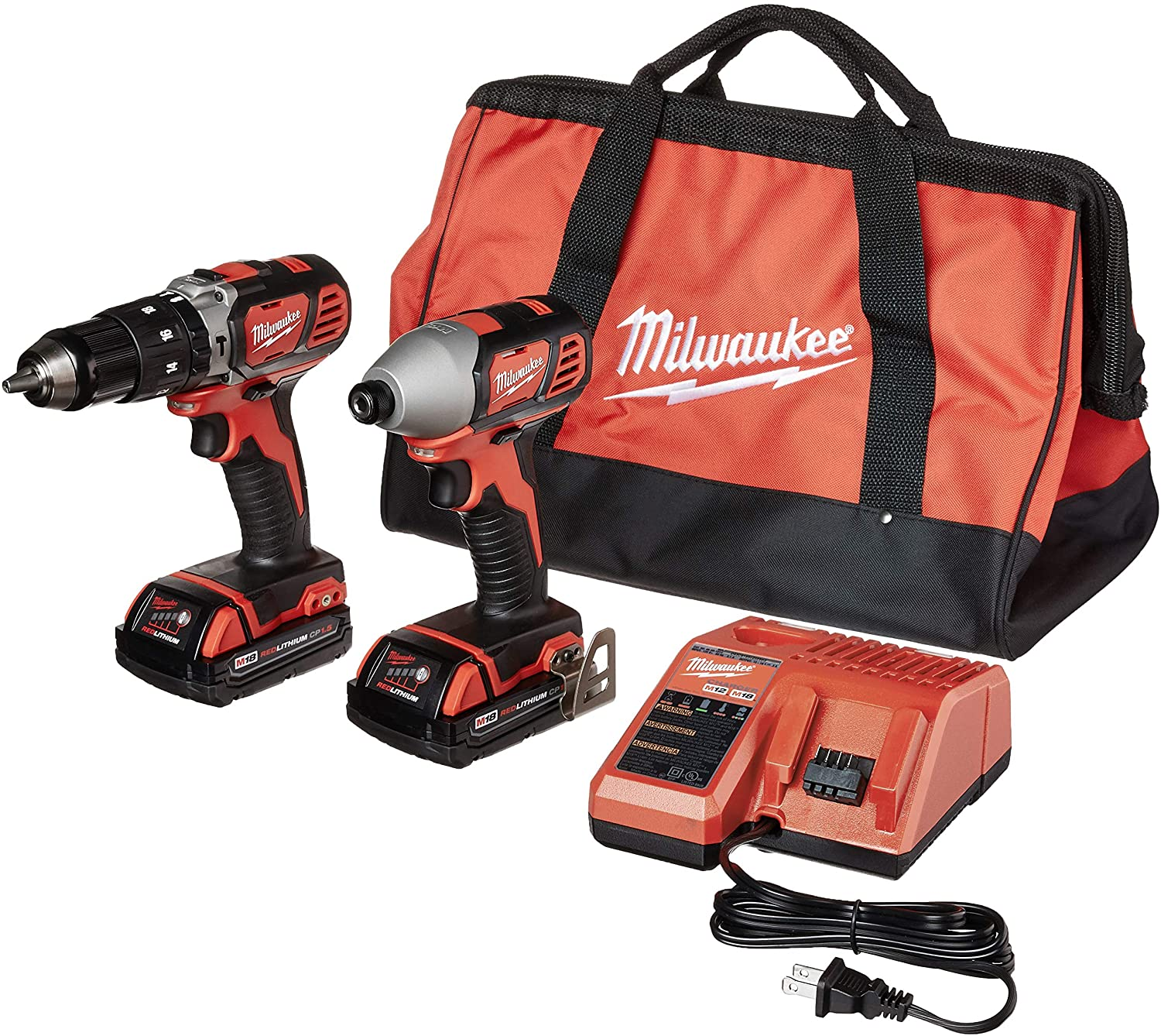 Milwaukee 2697-22CT M18 18-Volt Lithium-Ion Cordless Hammer Drill Impact Driver Combo Kit