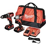 MILWAUKEE'S 2697-22CT M18 18-Volt Lithium-Ion Cordless Hammer Drill/Impact Driver Combo Kit