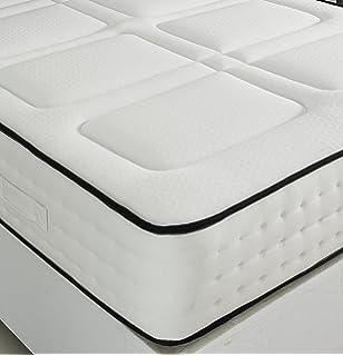 1 lujoso colchón de 1500 muelles ensacados con efecto memoria, poliuretano, Blanco, 4
