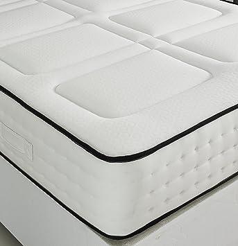 2000 bolsillo colchón de espuma de memoria de medio/firme, poliuretano, blanco,