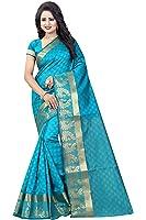 Vatsla Enterprise Women's Cotton Saree With Blouse Piece (Vpanmor002Firozi_Firozi)